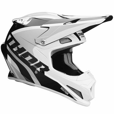 THOR 2018年モデル ヘルメット SECTOR 【セクター】 RICOCHET ホワイト/グレー