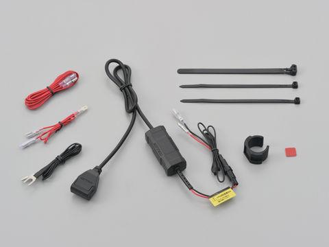 DAYTONA バイク専用電源 メインキー連動 USB1ポート(USB 5V2.4A)
