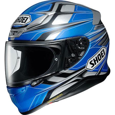 SHOEI ヘルメット 店頭展示品 Z-7 RUMPUS【ランパス】 フルフェイス ヘルメット BLUE/GREY(TC-2)
