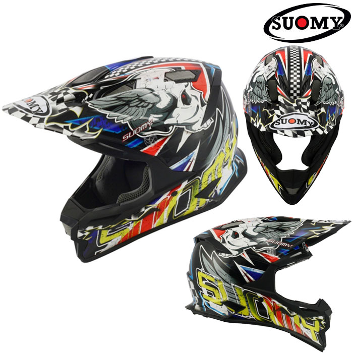 スオーミー 〔WEB価格〕SAL0009 ALPHA SKULL 【スカル】 オフロードヘルメット