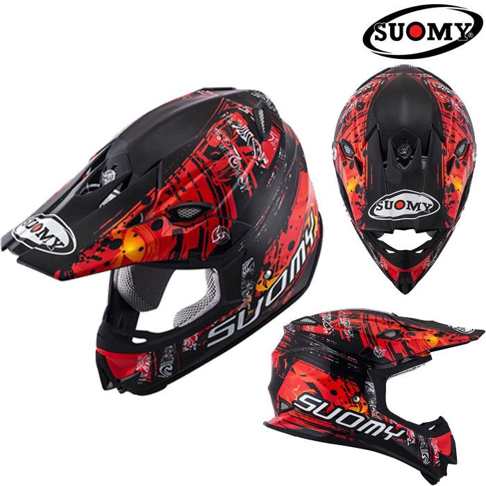 スオーミー 〔WEB価格〕SMJ0035 MR.JUMP MAORI RED 【マオリレッド】オフロードヘルメット