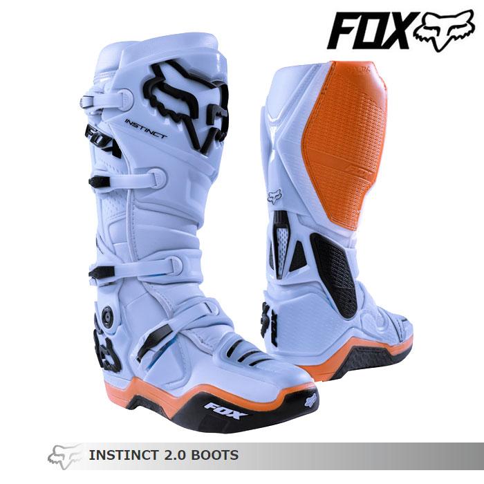 FOX RACING 〔WEB価格〕INSTINCT【インスティンクト】2.0 ブーツ    ライトグレー