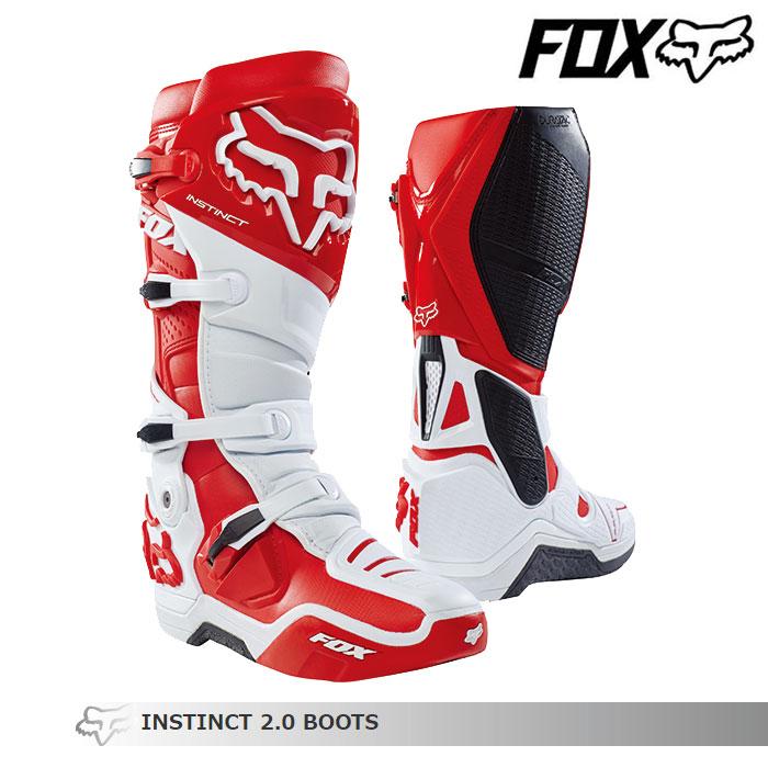 FOX RACING 〔WEB価格〕INSTINCT【インスティンクト】2.0 ブーツ    ホワイト/レッド