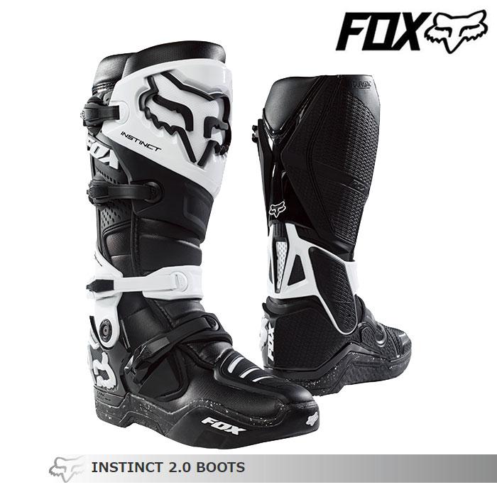 FOX RACING 〔WEB価格〕INSTINCT【インスティンクト】2.0 ブーツ    ブラック/ブラック