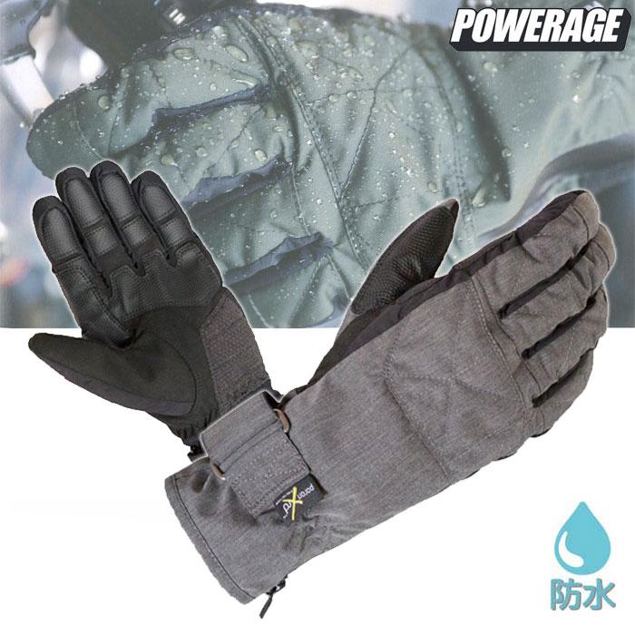 POWERAGE PG-804 UNWETレイングローブ 防水 透湿 防風 グレー◆全4色◆