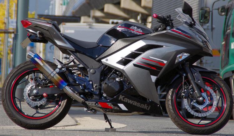 SANSEI Racing ZNIC リアエキゾースト【Ninja250,Z250】