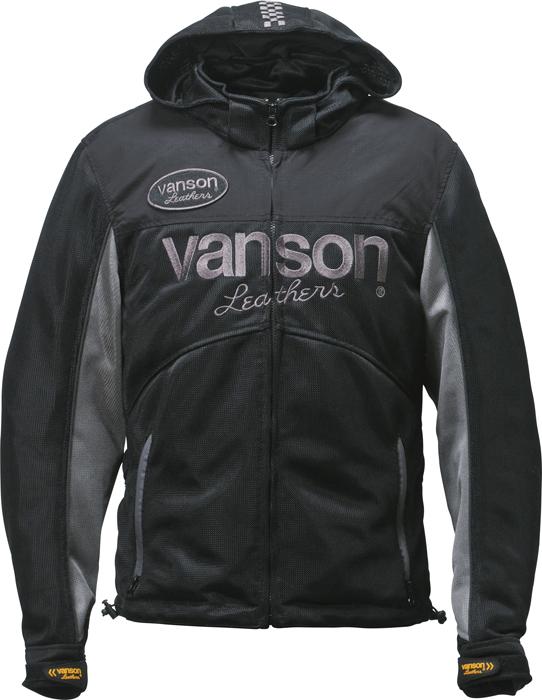 VANSON VS18104S メッシュパーカージャケット -ブラック-