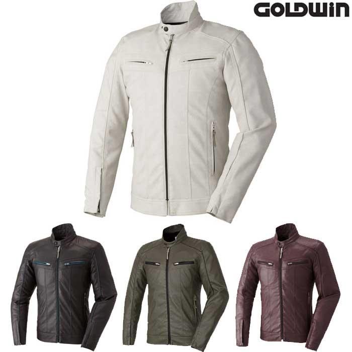 GOLDWIN GSM12608 シンセティックレザースリムライダースジャケット