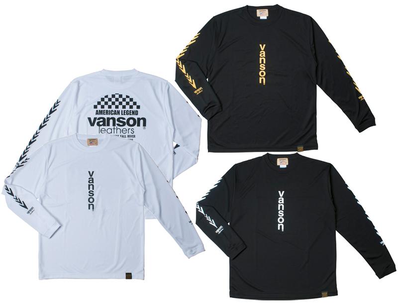 VANSON VS18804S メッシュロングスリーブTシャツ