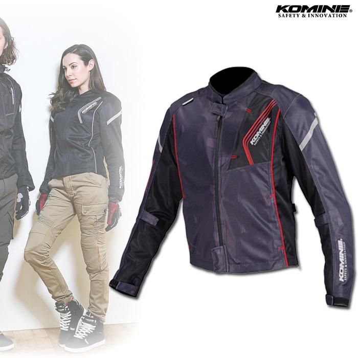 〔WEB価格〕 JK-128 プロテクトフルメッシュジャケット ブラック/レッド ◆全10色◆