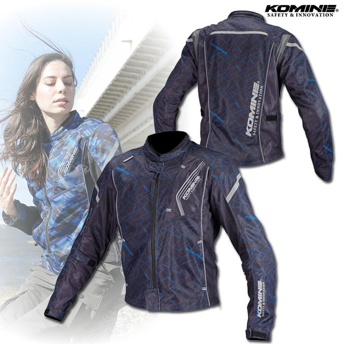 〔WEB価格〕 JK-128 プロテクトフルメッシュジャケット クラッシュブルー/ブラック ◆全10色◆