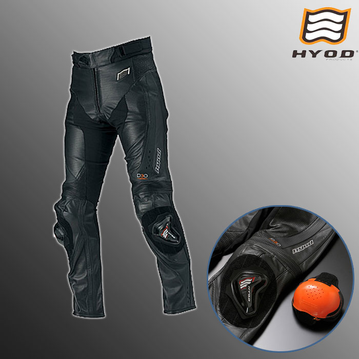 HYOD PRODUCTS HSP012DN ST-X D3O MESH LEATHER PANT  (BOOTS-OUT)メッシュ レザーパンツ ブーツアウト 春夏用  ブラック◆全3色◆