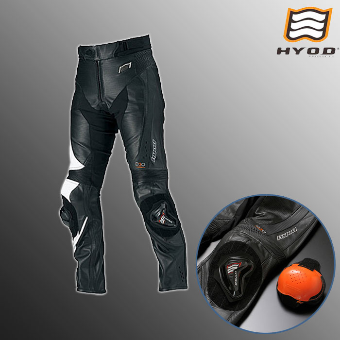 HYOD PRODUCTS HSP012DN ST-X D3O MESH LEATHER PANT  (BOOTS-OUT)メッシュ レザーパンツ ブーツアウト 春夏用  ブラック/ホワイト◆全3色◆