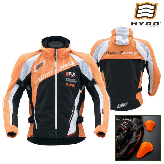HYOD PRODUCTS STJ035D ST-S SPEED-iD[スピードアイディー] D3O PARKA パーカ ジャケット 春夏用 オレンジ/ブラック◆全7色◆