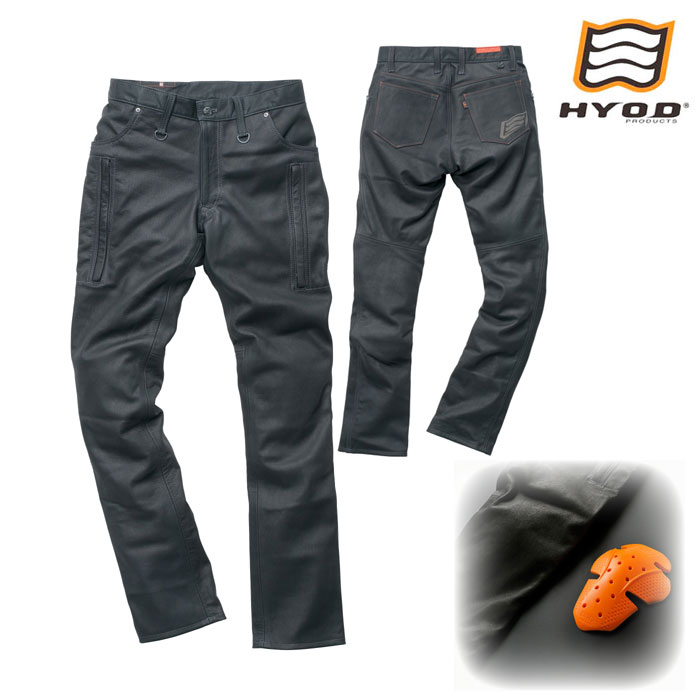 HYOD PRODUCTS SMP005 SMART LEATHER D3O VENT PANTS ブラック◆全2色◆
