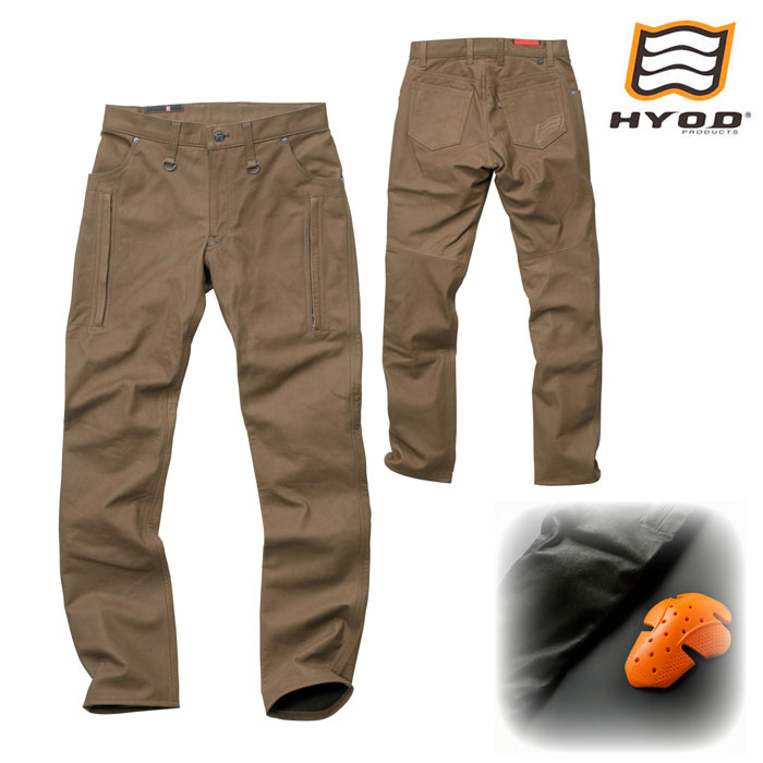 HYOD PRODUCTS SMP005 SMART LEATHER D3O VENT PANTS オリーブ◆全2色◆