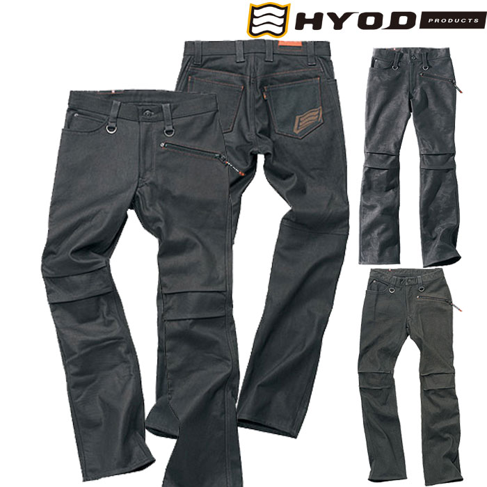 HYOD PRODUCTS SMART LEATHER D3O RIDE PANTS エイジドブラック