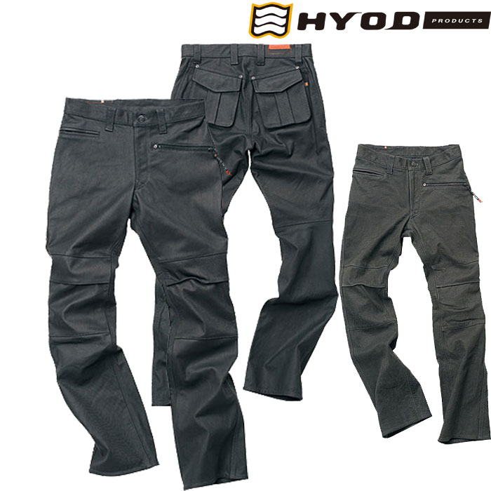 HYOD PRODUCTS SMART LEATHER D3O STREET PANTS エイジドブラック