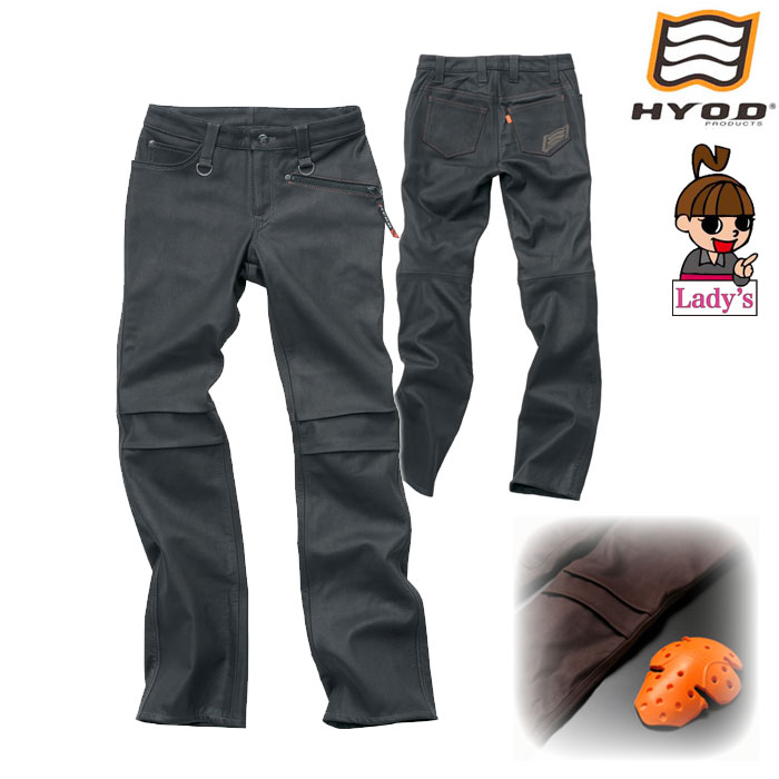 HYOD PRODUCTS (レディース) SMP901N  SMART LEATHER D3O RIDE PANTS ブラック/ブラック