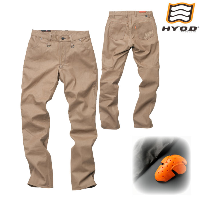 HYOD PRODUCTS SMP006 SMART LEATHER D3O TAPERED PANTS オリーブ(限定色)◆全3色◆