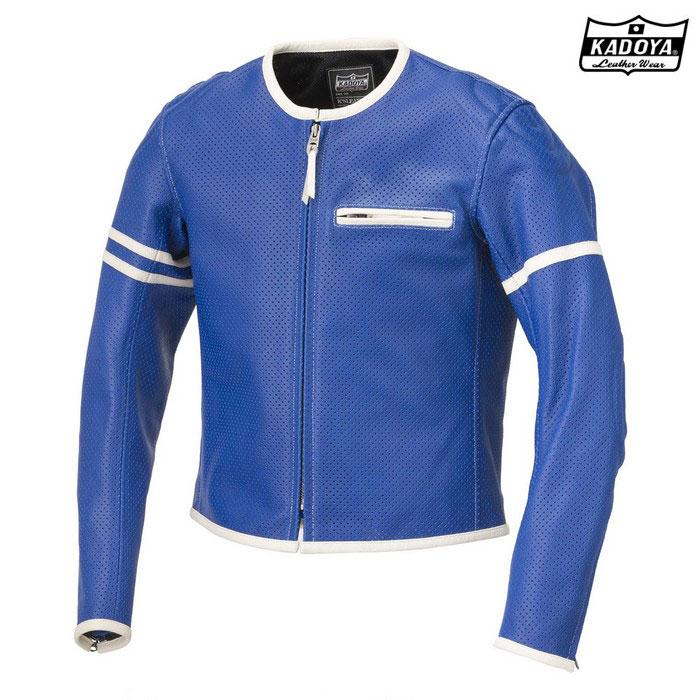 KADOYA 1177 PL-SPパンチングレザー (大きいサイズ)ブルー/アイボリー ◆全3色◆
