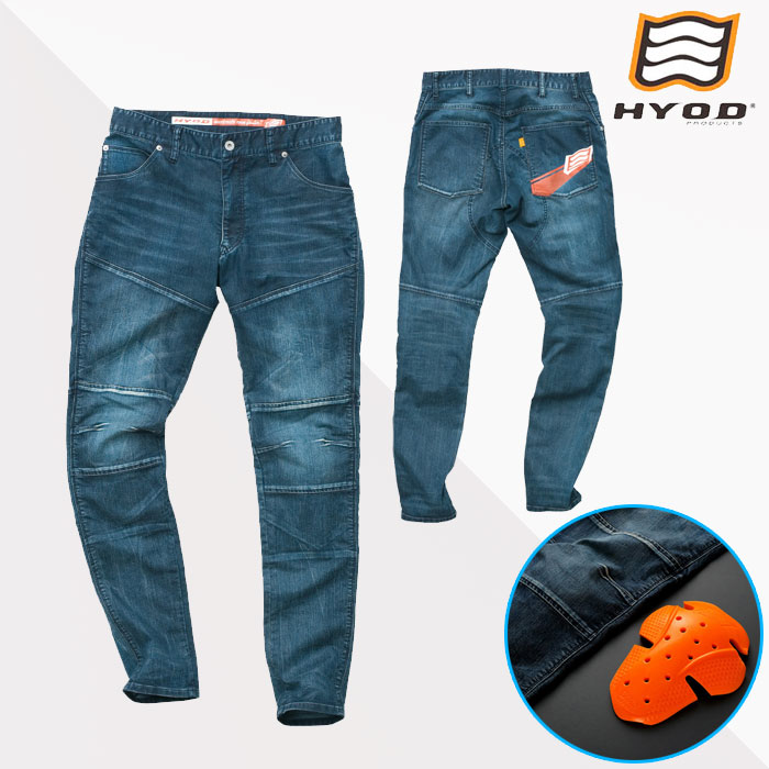 HYOD PRODUCTS HYD532D D3O BIKERS PANTS バイカーズパンツ 春夏用 INDIGO(aged-wash)◆全3色◆