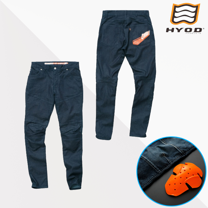 HYOD PRODUCTS HYD532D D3O BIKERS PANTS バイカーズパンツ 春夏用 INDIGO(one-wash)◆全3色◆