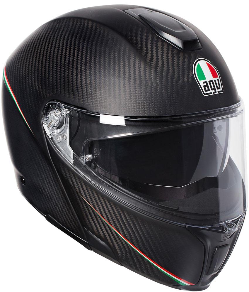 AGV 〔WEB価格〕AGV SPORTMODULAR TRICOLORE MATT CARBON ITALY【スポーツモデュラー トリコロール カーボン イタリー】 フルフェイス ヘルメット