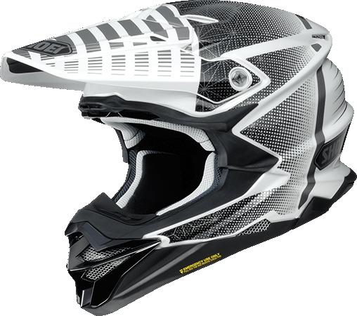 SHOEI ヘルメット (個別配送のみ 他商品との同梱配送不可)VFX-WR BLAZON【ブイエフエックス-ダブルアール ブラゾン】オフロードヘルメット TC-6(WHITE/BLACK)