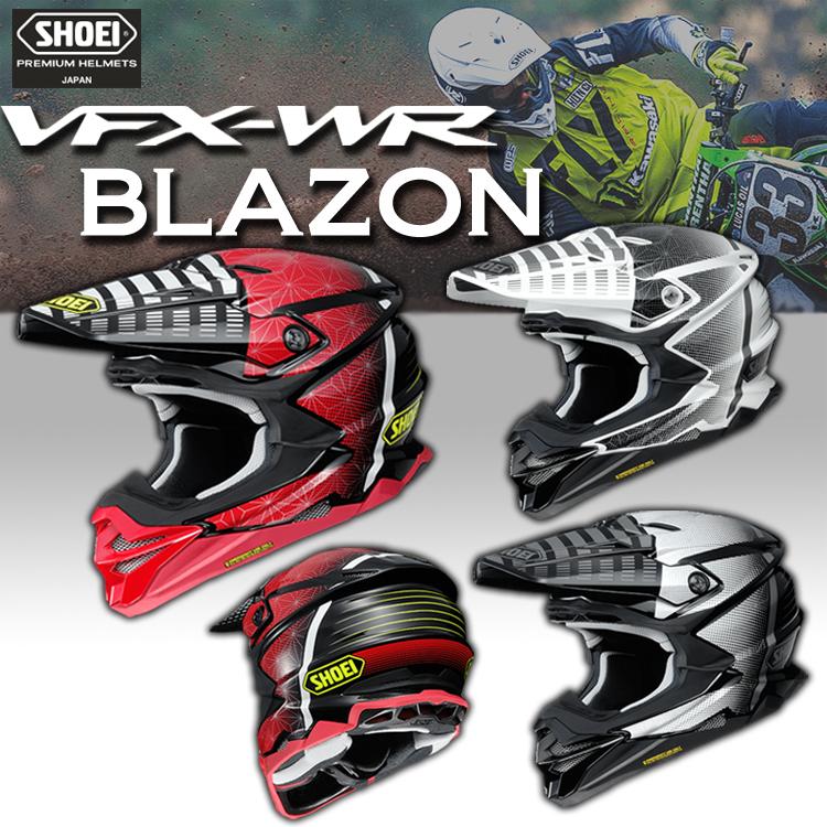 SHOEI ヘルメット VFX-WR BLAZON【ブイエフエックス-ダブルアール ブラゾン】オフロードヘルメット