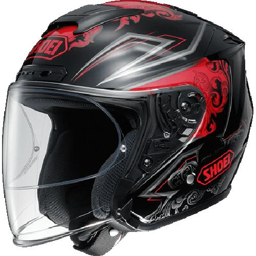 SHOEI ヘルメット (個別配送のみ 他商品との同梱配送不可)J-FORCE IV REFINADO【ジェイ-フォース フォー レフィナード】ジェットヘルメット TC-1(RED/BLACK)