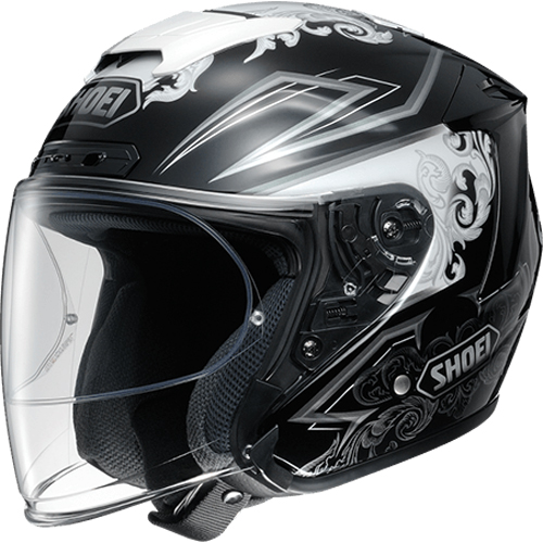 SHOEI ヘルメット (個別配送のみ 他商品との同梱配送不可)J-FORCE IV REFINADO【ジェイ-フォース フォー レフィナード】ジェットヘルメット TC-5(WHITE/BLACK)