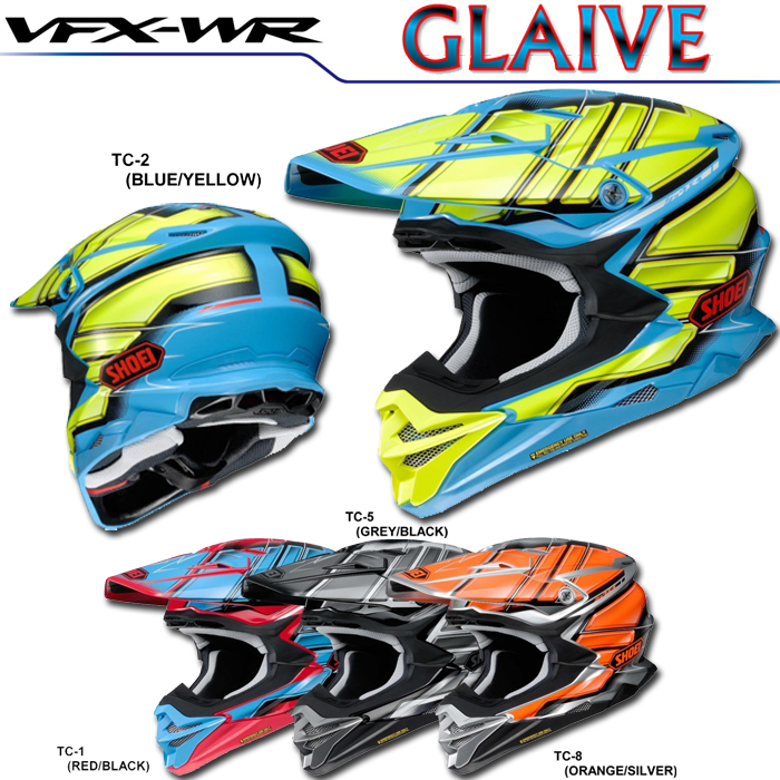 SHOEI ヘルメット 〔WEB価格〕VFX-WR GLAIVE【ブイエフエックス-ダブルアール グレイヴ】オフロードヘルメット