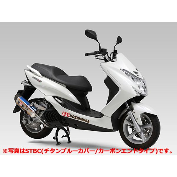 YOSHIMURA JAPAN 【予約商品】機械曲 R-77S サイクロン チタンブルーカバー/カーボンエンド EXPORT SPEC 政府認証 MAJESTY S
