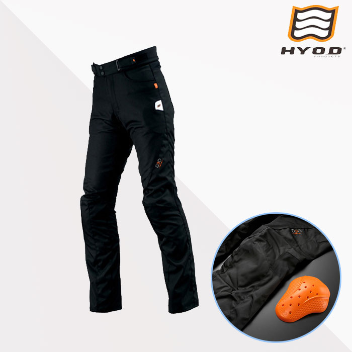 HYOD PRODUCTS STT001D ST-S D3O PANTS(ストレート) パンツ メッシュ 春夏用 ブラック◆全2色◆