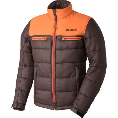 GOLDWIN 〔WEB価格〕GSM22758 GWS ウォームキルトジャケット 防寒 防風 オレンジ×ブラウン(OB)◆全6色◆