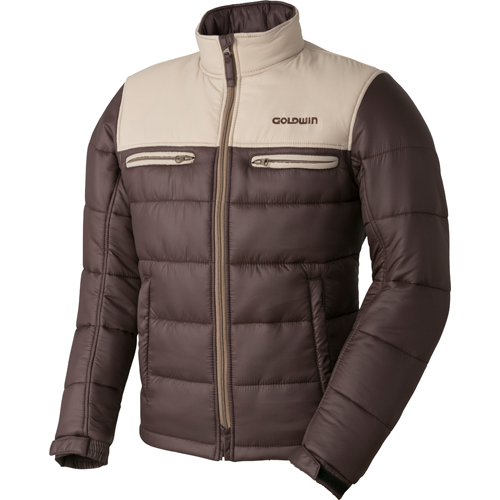 GOLDWIN 〔WEB価格〕GSM22758 GWS ウォームキルトジャケット 防寒 防風 タン×ブラウン(TB)◆全6色◆