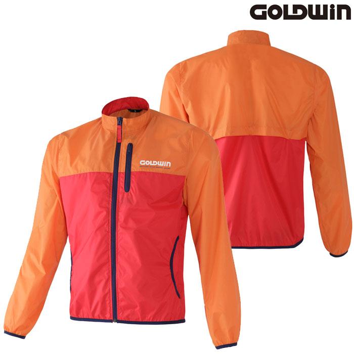 GOLDWIN GSM24800 マルチインナージャケット 防風 オレンジ×レッド(OR)◆全5色◆