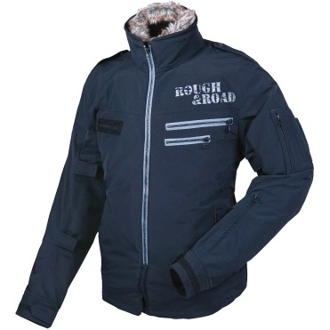 ROUGH&ROAD 〔WEB価格〕RR7684 フライトジャケットEM 防寒 防風 ブラック ◆全2色◆