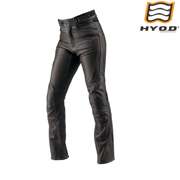 HYOD PRODUCTS HSP008DN ST-X D3O LEATHER PANTS(STRAIGHT) レザーパンツ BROWN/WHITE STITCH◆全3色◆