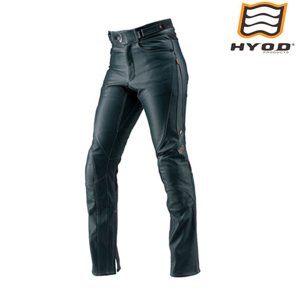HYOD PRODUCTS HSP008DN ST-X D3O LEATHER PANTS(STRAIGHT) レザーパンツ NAVY/WHITE STITCH◆全3色◆