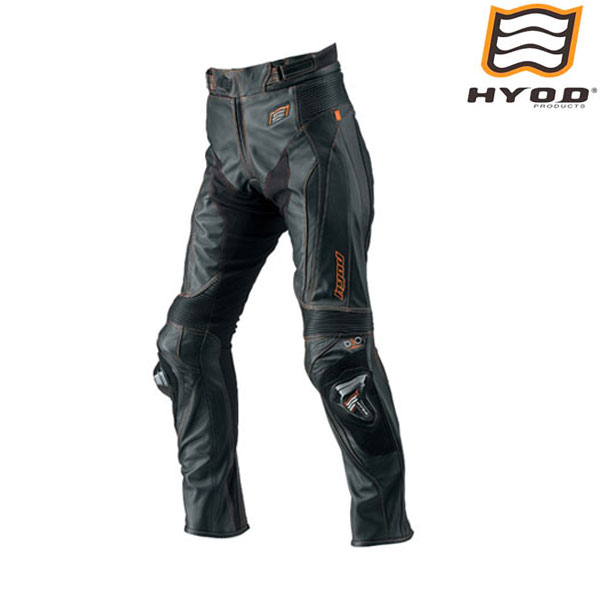 HYOD PRODUCTS HSP019SPD ST-X D3O LEATHER PANTS(BOOTS-OUT)  レザーパンツ BLACK/ORANGE STITCH◆全3色◆