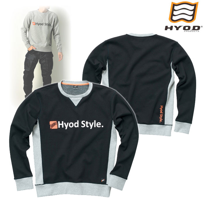 HYOD PRODUCTS STU713 WIND BLOCK HEAT SWEAT SHIRTS BLACK◆全4色◆