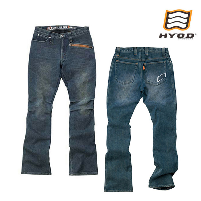 "HYOD PRODUCTS HYD512DN HYOD D3O RIDE DENIM""WARM LAYERD"" INDIGO(aged-wash)◆全3色◆"