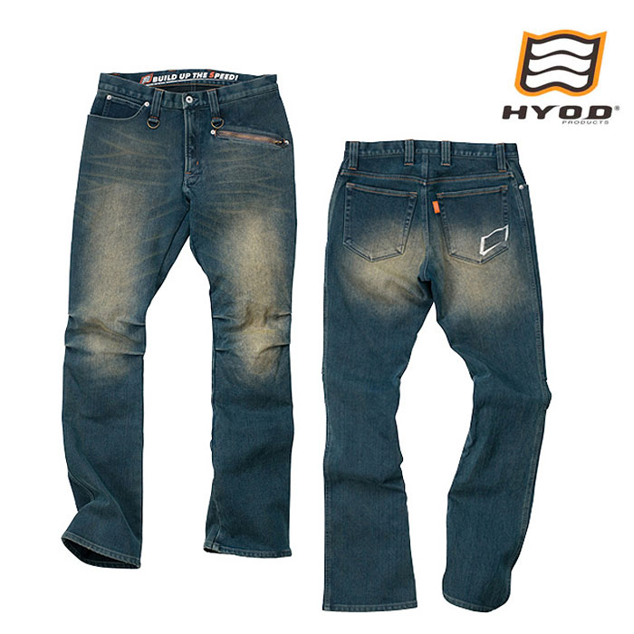 "HYOD PRODUCTS HYD512DN HYOD D3O RIDE DENIM""WARM LAYERD"" INDIGO(grey-dye)◆全3色◆"