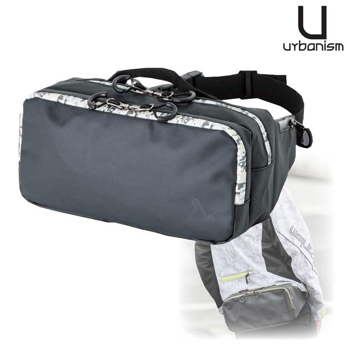 UNK-908 アーバニズム ウエストバッグ 3.5L 撥水 止水ファスナー モノカモ◆全3色◆