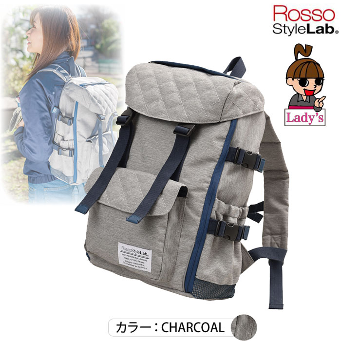 J-AMBLE (レディース)ROT-907 2WAYシートバッグ兼用リュック チャコール◆全3色◆