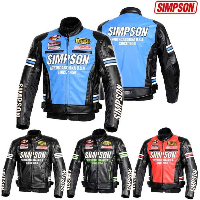 SIMPSON SJ-8133 PUレザージャケット
