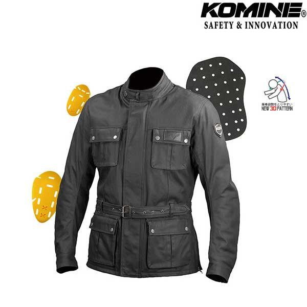 komine 〔WEB価格〕JK-594 プロテクトウォータープルーフワックスコットンジャケット