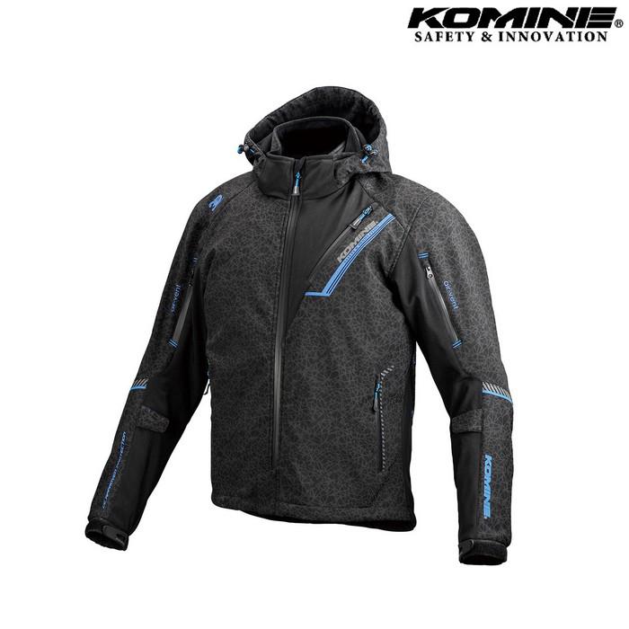 komine JK-579 プロテクトソフトシェルウィンターパーカ IFU 『イフ』 HRカラー 防寒 防風 着脱可能保温インナー付 HR ブラック ◆全2色◆